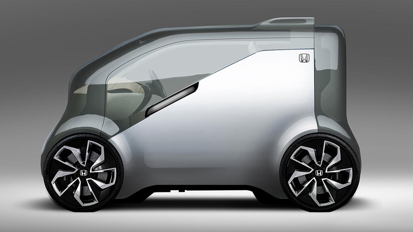 "Honda's NeuV is being promoted as ""harnessing the power of artificial intelligence, robotics, and big data to transform the mobility experience"""