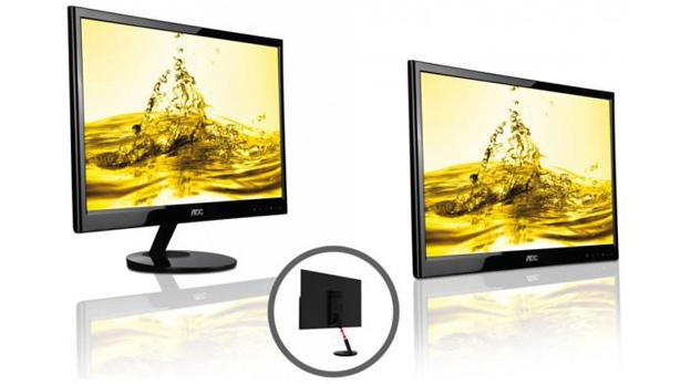 The e2251Fwu monitor from AOC comes receives both power and signal from a single USB cable