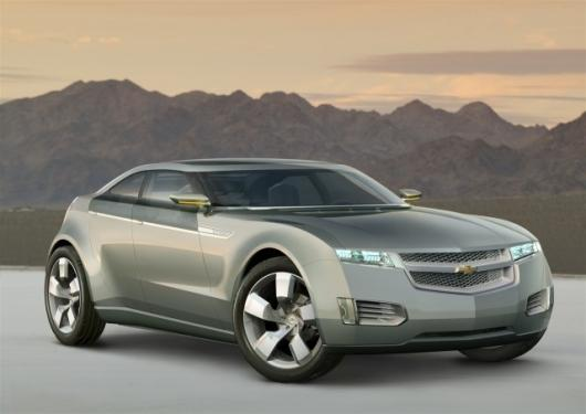 The Chevy Volt - a flagship American electric car that's sure to benefit from Obama's recovery cash injection.