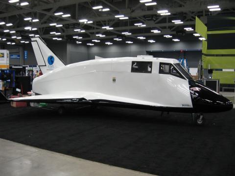 The Hermes spacecraft on display at National Instruments Week 2011 in Austin, TX