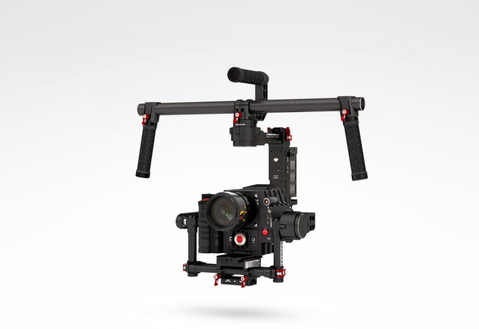 The DJI Ronin uses the company's ZenMuse system, first designed for aerial videography