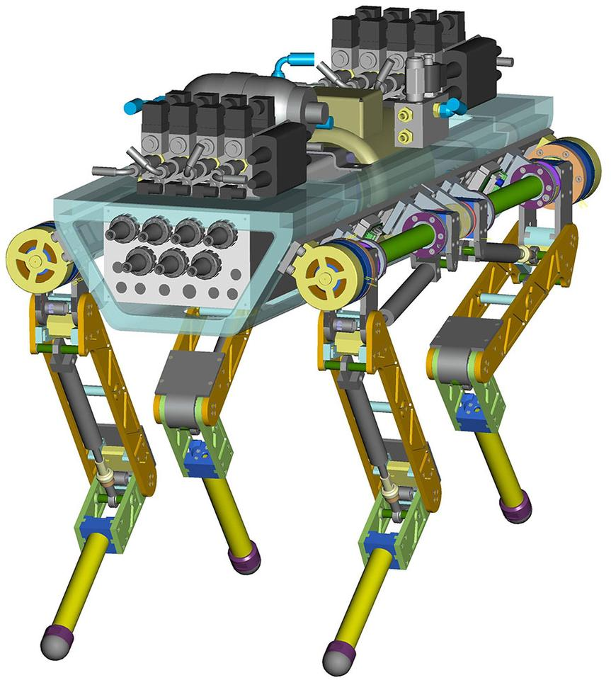 CAD image of HyQ quadruped robot by IIT (Image: IIT)