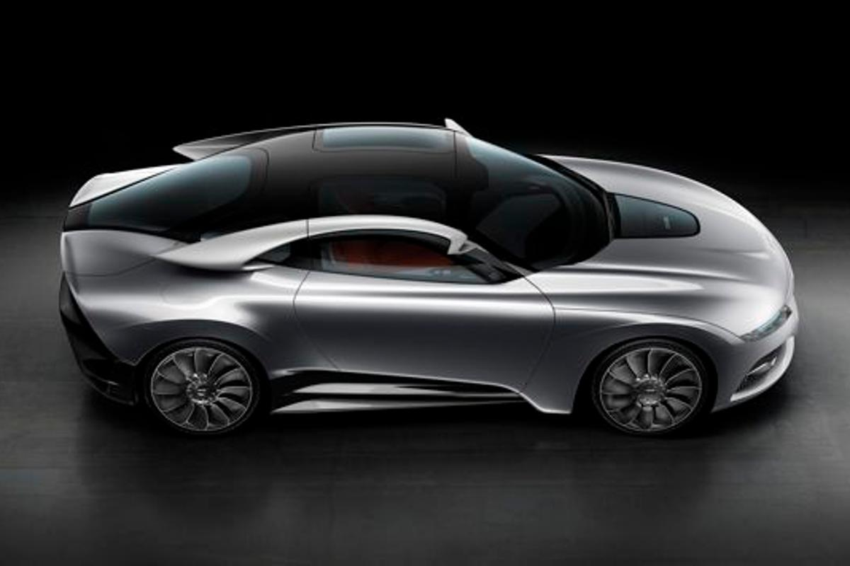 Saab's new PhoeniX concept car features an electrically-driven rear axle, the IQon connected infotainment system, and ... wings?