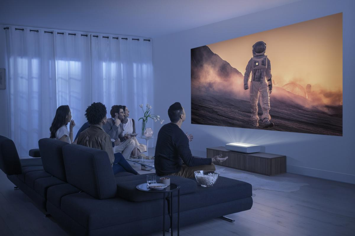The Premiere smart projectors can throw up to 130 inches of 4K image goodness onto a wall or screen from just inches away