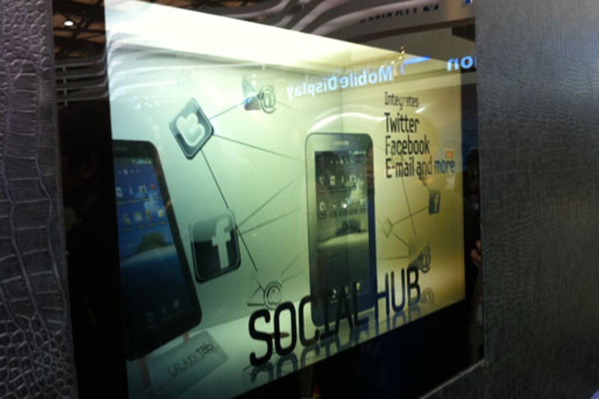 Advertising is likely to be the first application for Samsung's new transparent LCD panels