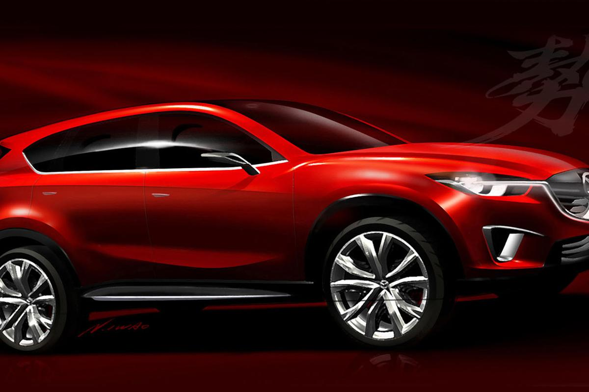 Mazda's Minagi is a compact crossover SUV concept which will be shown for the first time at the Geneva Auto Show