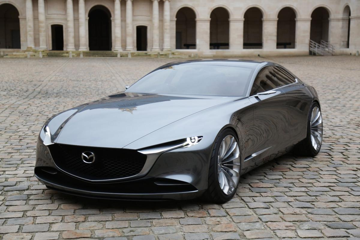 "The winner of the ""Concept Car of the Year"" at the 11th-annual Car Design Night on March 6, 2018: Mazda's Vision Coupe."