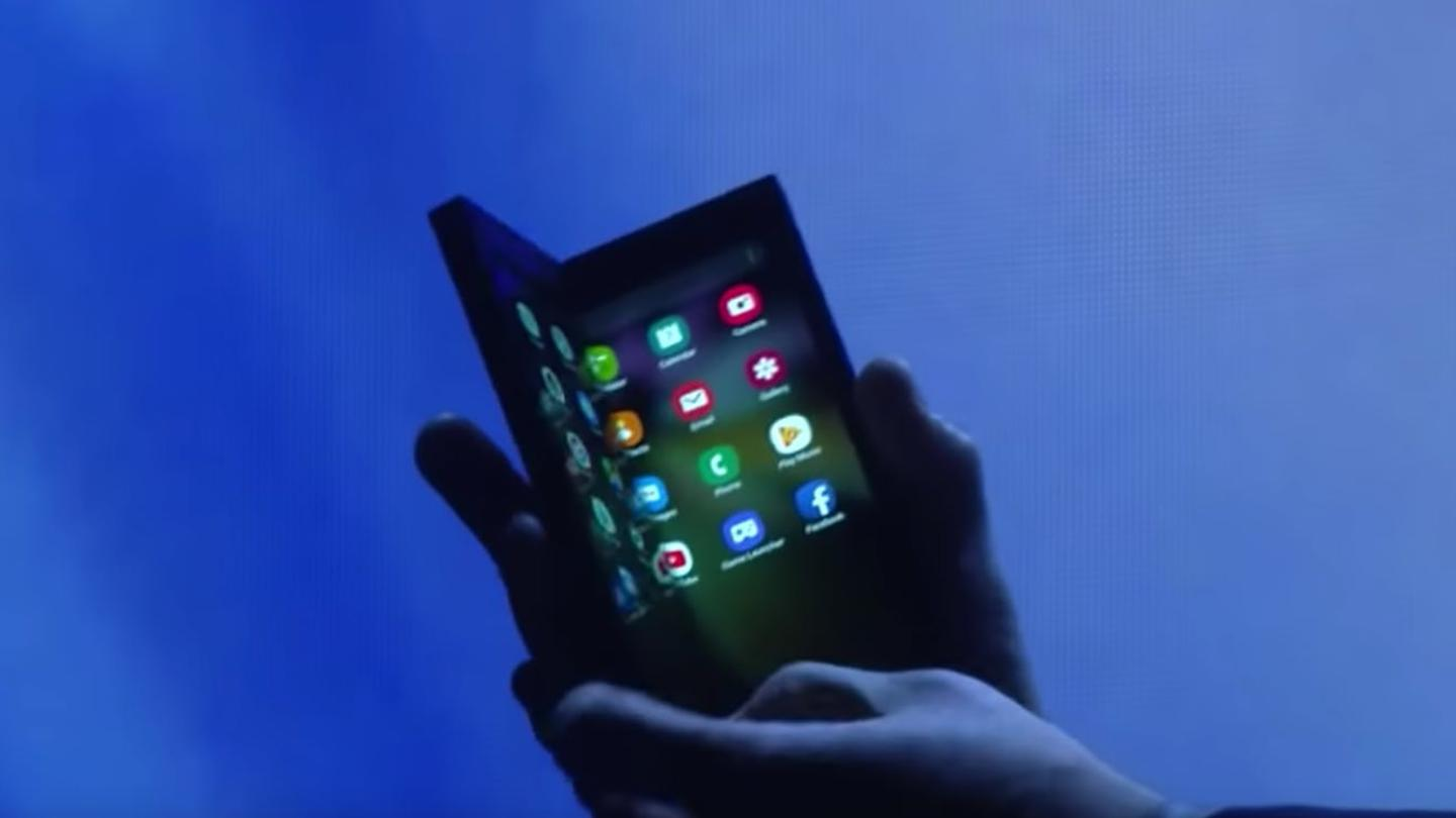 Samsung has shown off its folding phone in prototype form