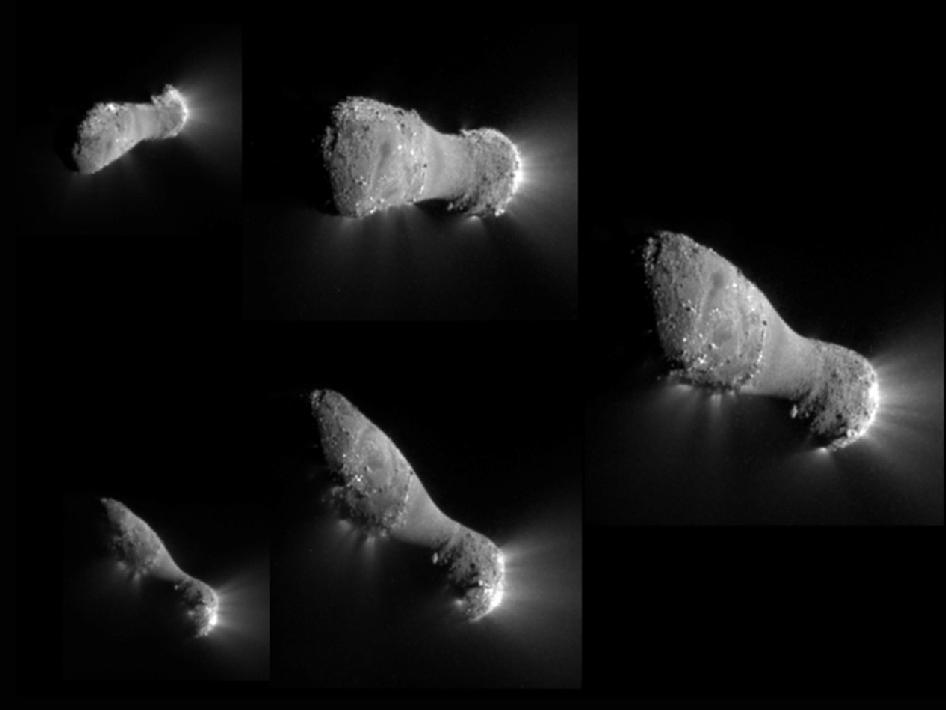 Hartley 2 comes from the Kuiper Belt, a zone that is found near Pluto at the edge of the solar system (image by NASA)