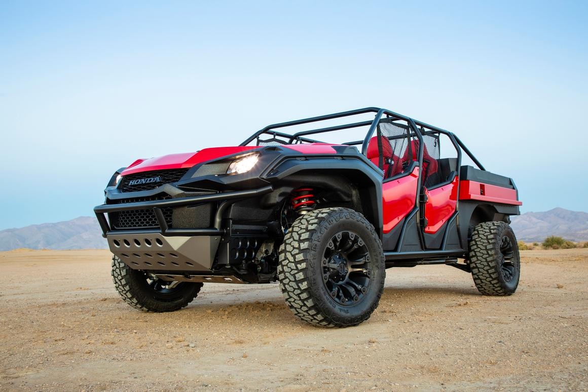 Honda Ridgeline Off Road >> Honda Smashes Together Ridgeline Pickup And Pioneer Utv Into
