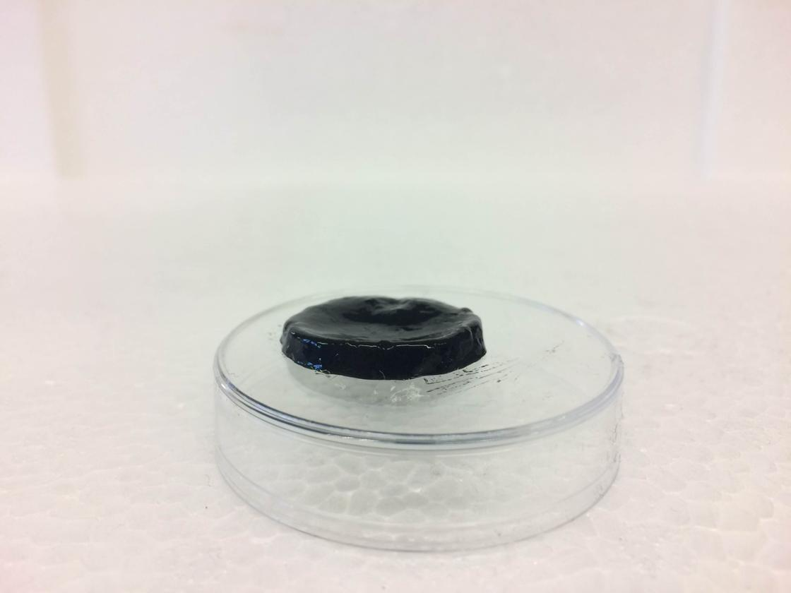 A sample of the electrically-conductive antibacterial hydrogel