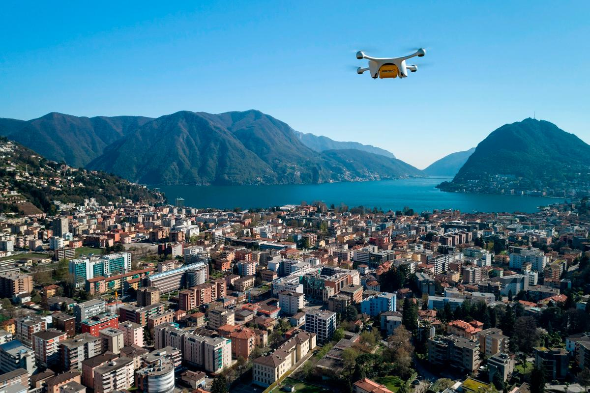 There is still some final testing of the drone delivery service between the two Swiss hospitalsto play out