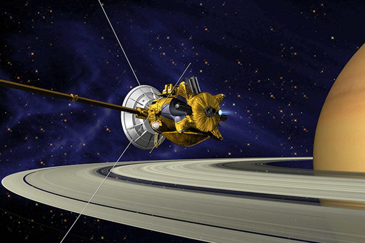Artist's concept of the Cassini orbiter