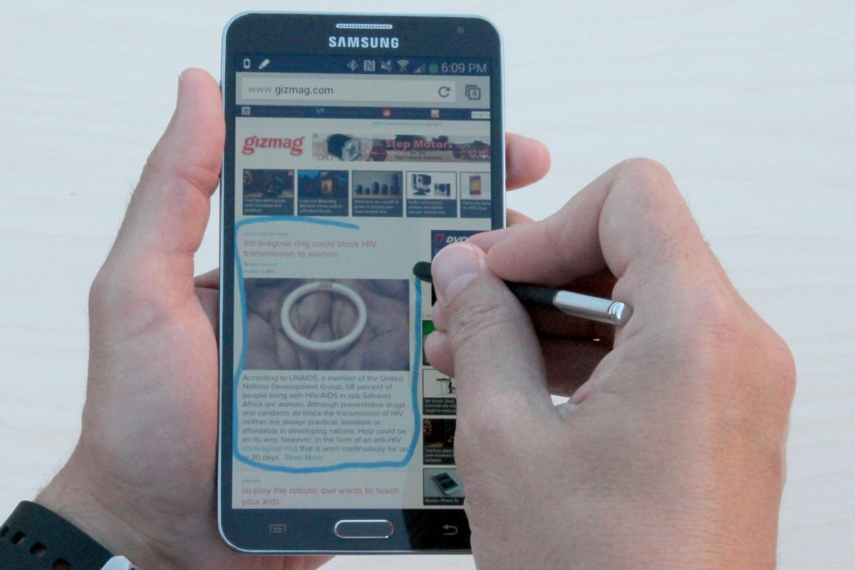 Gizmag reviews the new Samsung Galaxy Note 3, with its even bigger screen and improved stylus integration