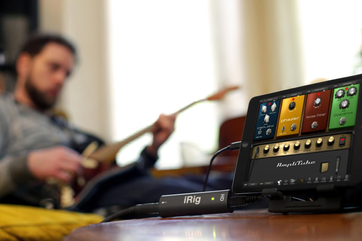 The iRig HD audio interface for guitar and bass