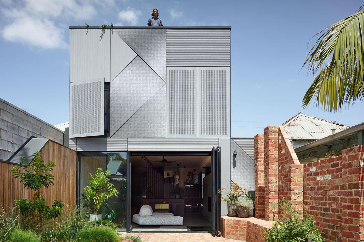 Union House opens up to the garden with large glass doors