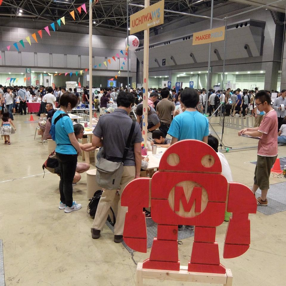 Maker Faire Tokyo 2015 saw around 13,000 people view 300 pieces of creative work