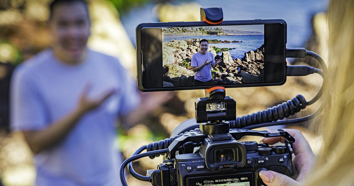 Sony Xperia Pro smartphone shoots for the creative market