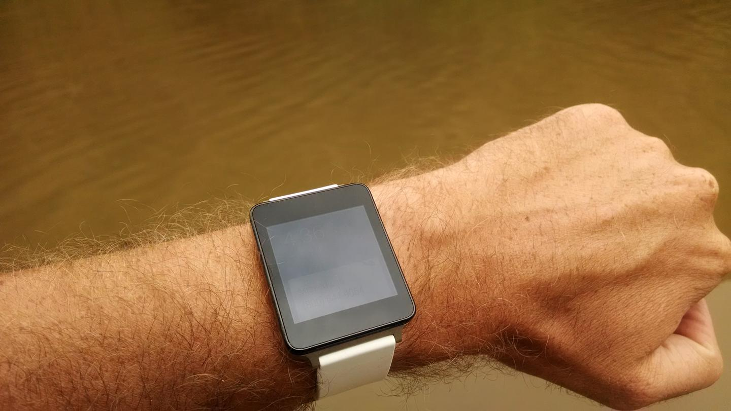 The G Watch takes up lots of wrist real estate