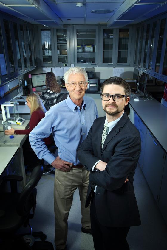 Center Director Roland Griffiths, left, and Associate Director Matthew Johnson.