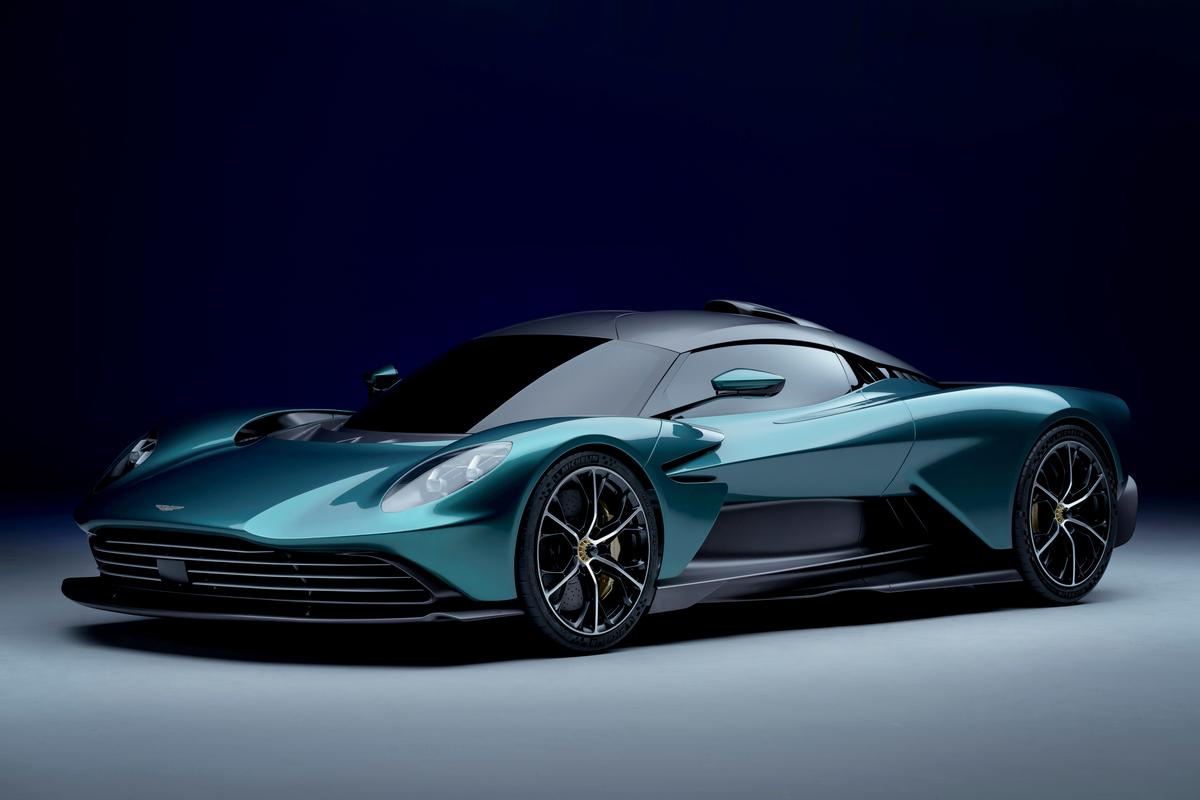 A render of Aston Martin's production-ready Valhalla supercar