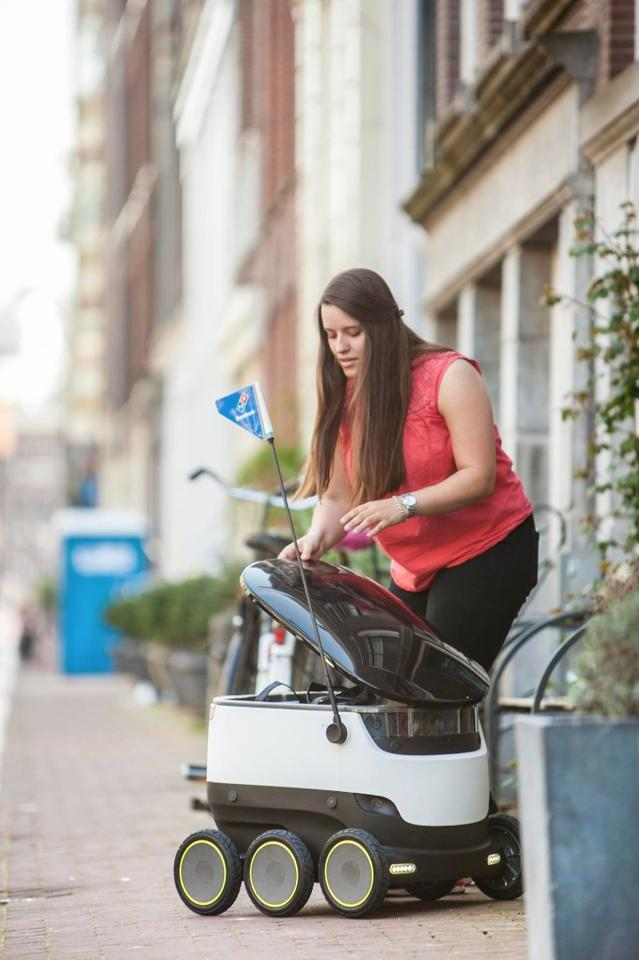 Starship's robots will begindelivering pizzas to customers within a one-mile radius of selected stores in Germany and the Netherlands