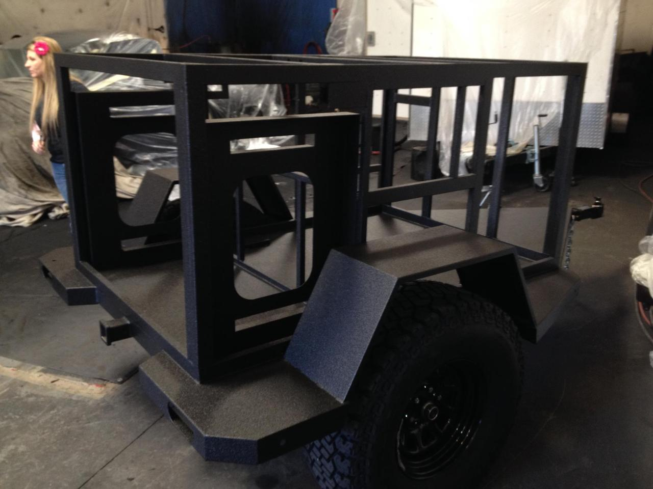 The Turtleback frame is coated to prevent against corrosion and wear