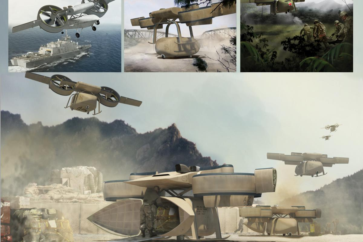 DARPA's ARES consists of a VTOL flight module capable of carrying several different types of detachable mission modules (Image: DARPA)