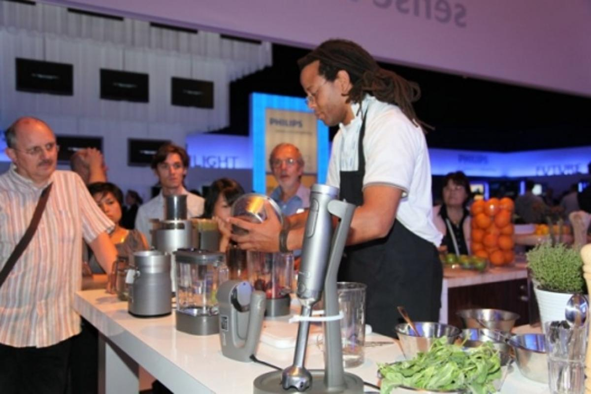 The Philips Robust Collection range of kitchen appliances being demonstrated at IFA