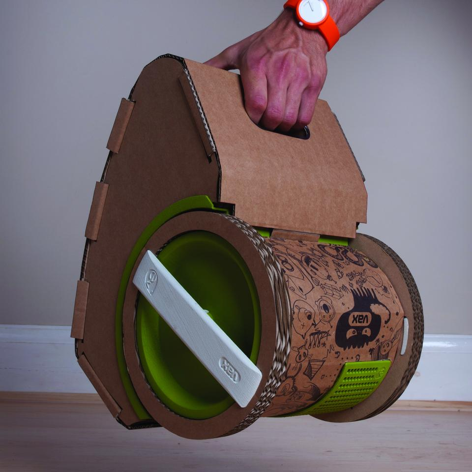 The lightweight Vax ev cardboard vacuum cleaner prototype