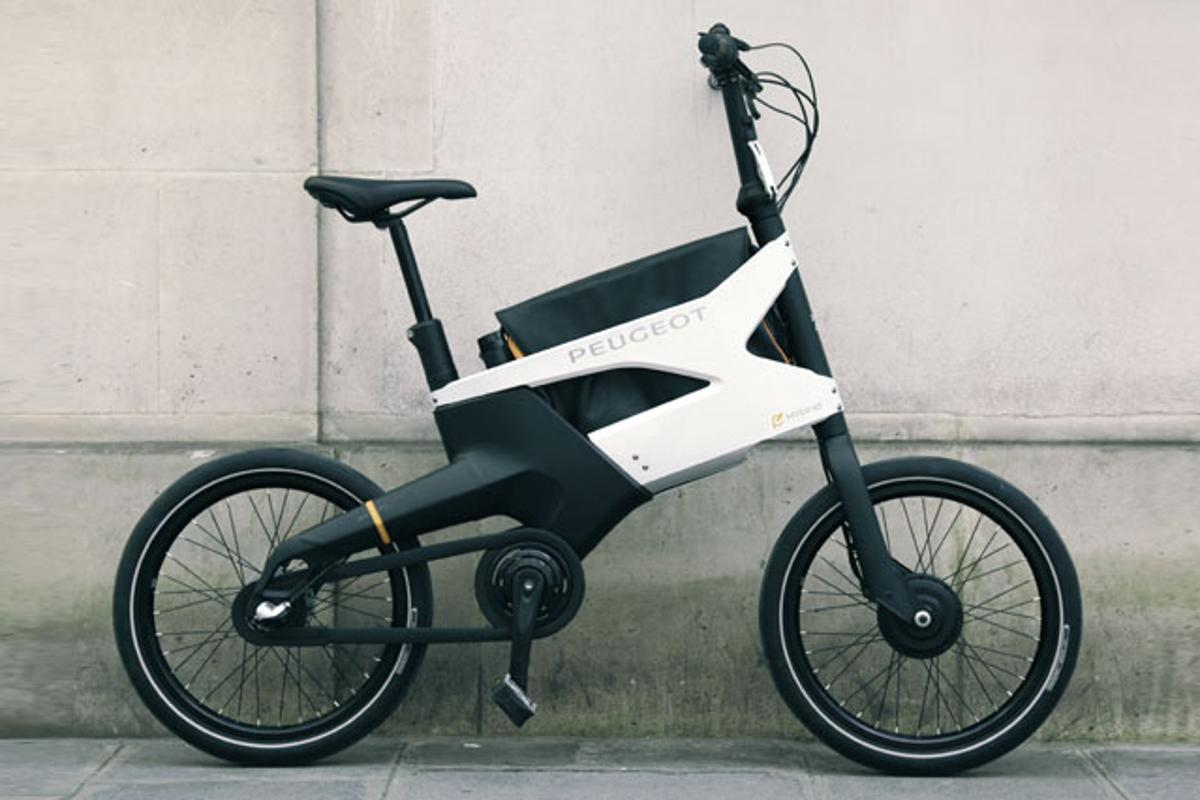 "Peugeot's AE21 Hybrid electric bike previewed last week at the ""What's Next' show"