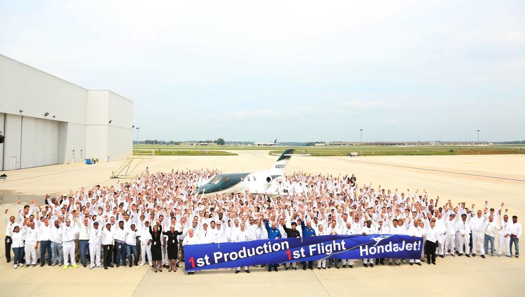 The HondaJet production team