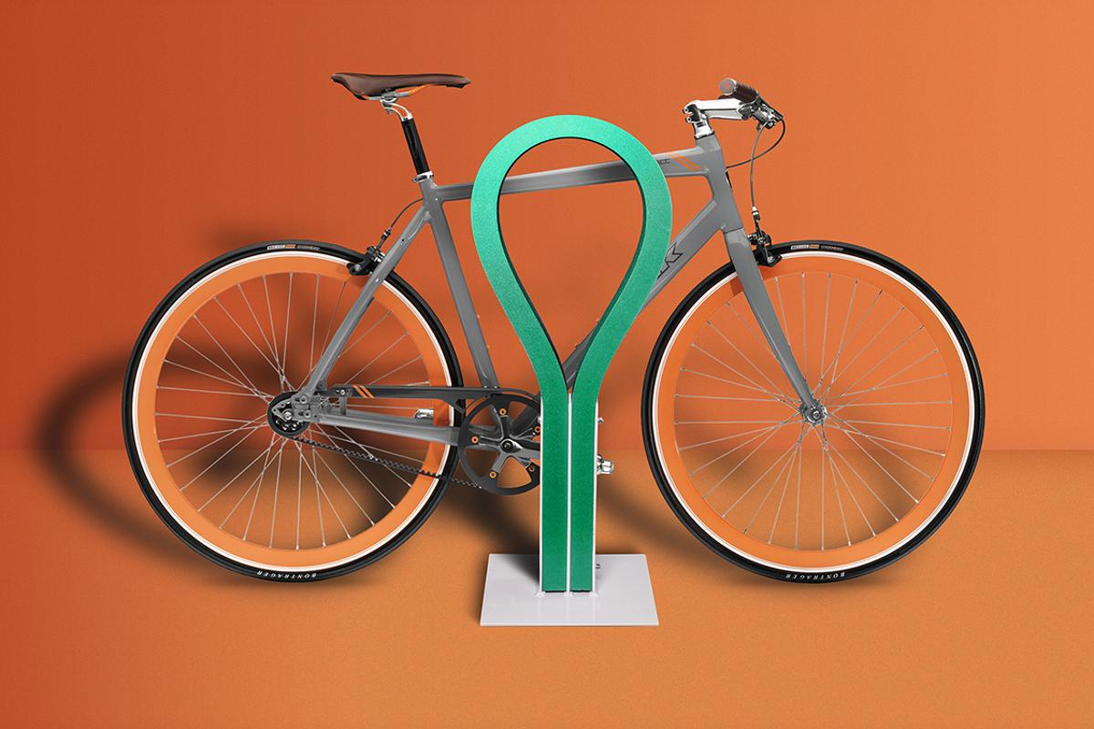 Loop provides secure parking for two bikes, both of which are safe from scratches thanks to the rubber exterior