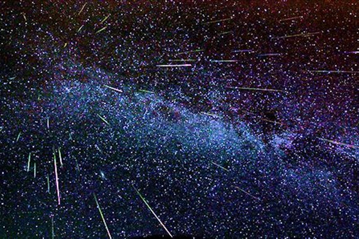 Time exposure of the 2007 Perseids (Image: NASA)
