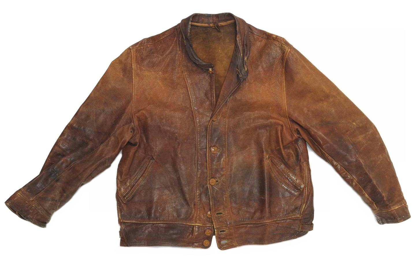 Einstein's leather jacket doubled it's auction estimate of £40,000 to £60,000, selling for USD$145,974.