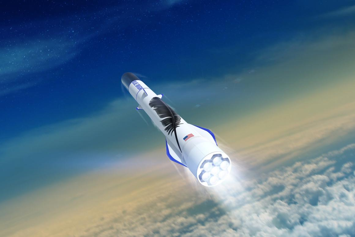 Blue Origin has previously targeted 2020 for the first flight of the New Glenn rocket