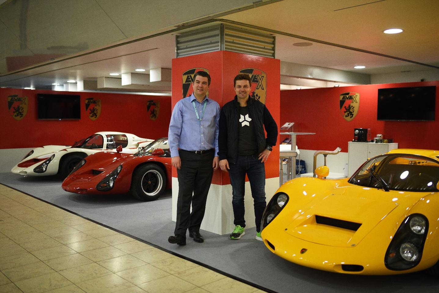 Kreisel and Evex showed a 910e, Evex 910 and original Porsche 910 at the recent Techno-Classica Essen show