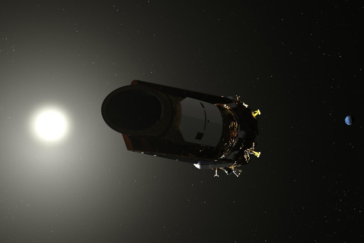 Artist's depiction of the Kepler Space Telescope