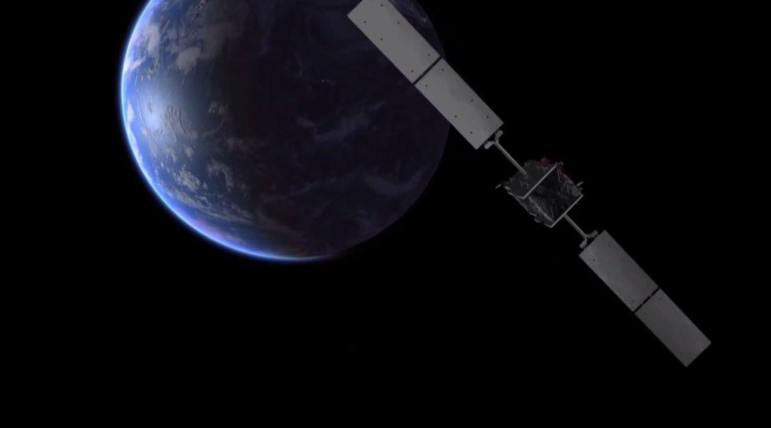 Artist's impression of a Galileo satellite orbiting Earth