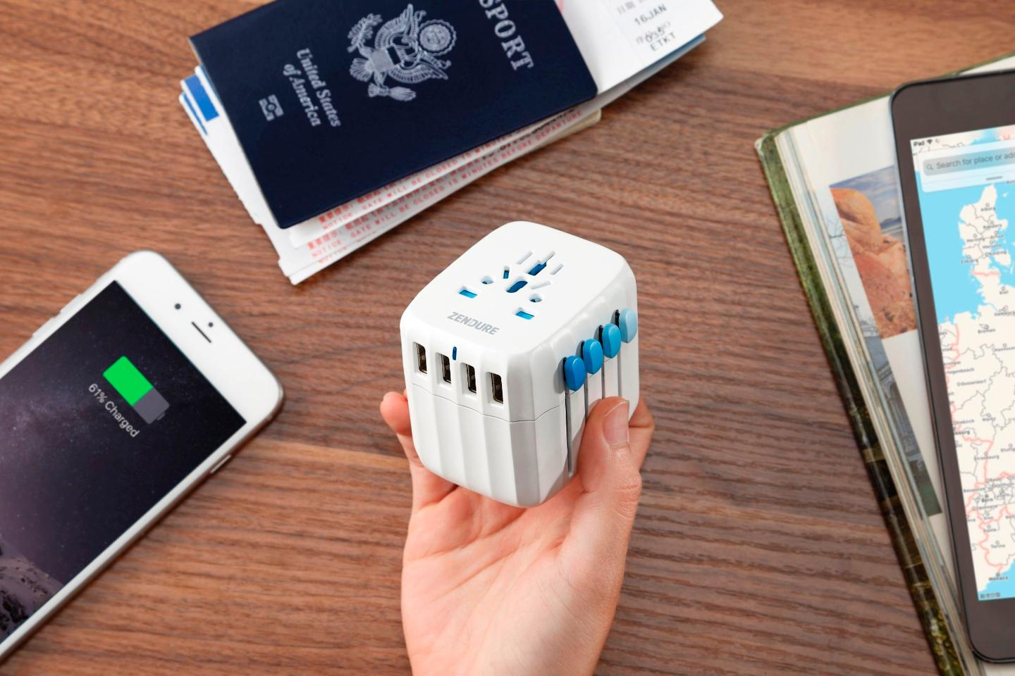 The built-in auto-resetting fuse allows the Passport to automatically recover from a surge within one minute