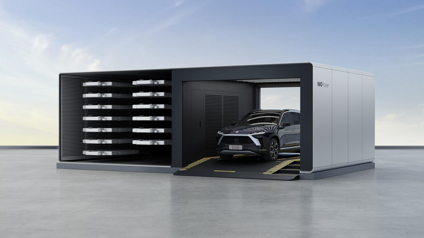 The Power Swap 2.0 station can charge and swap as many as 312 battery packs a day, and Nio is planning to have 500 of them operational in China by the end of 2021