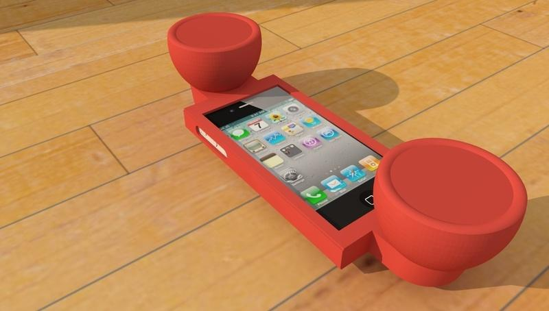 The iPhone phone is typical of some simpler 3D printed objects