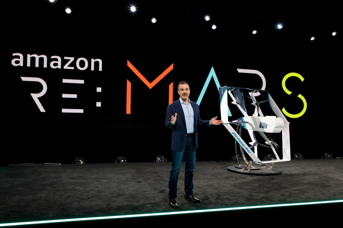 Amazon's new delivery drone can switch from vertical to horizontal flight
