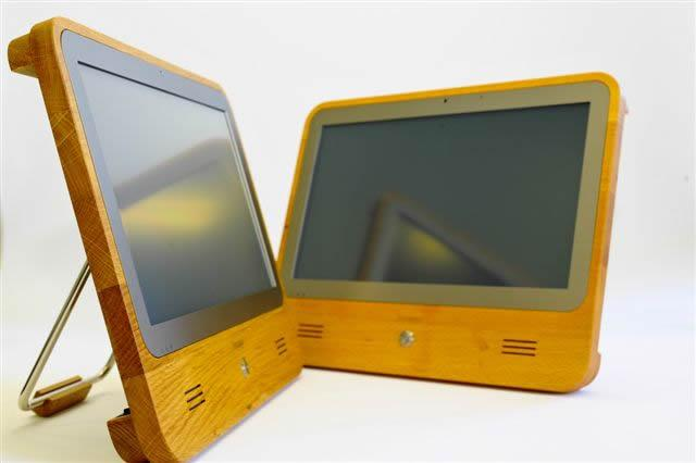 The iameco v3 touchscreen computer is said to have 70 percent less carbon footprint than a regular desktop PC (Photo: MicroPro Computers)