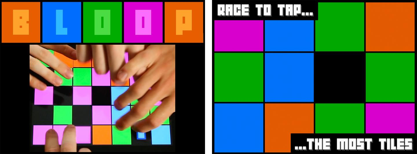 Bloop is a race to tap tiles