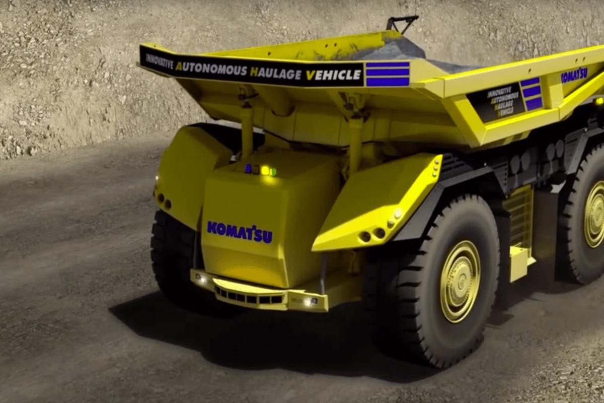Komatsu'sInnovative Autonomous Haulage Vehicle has no room for a driver