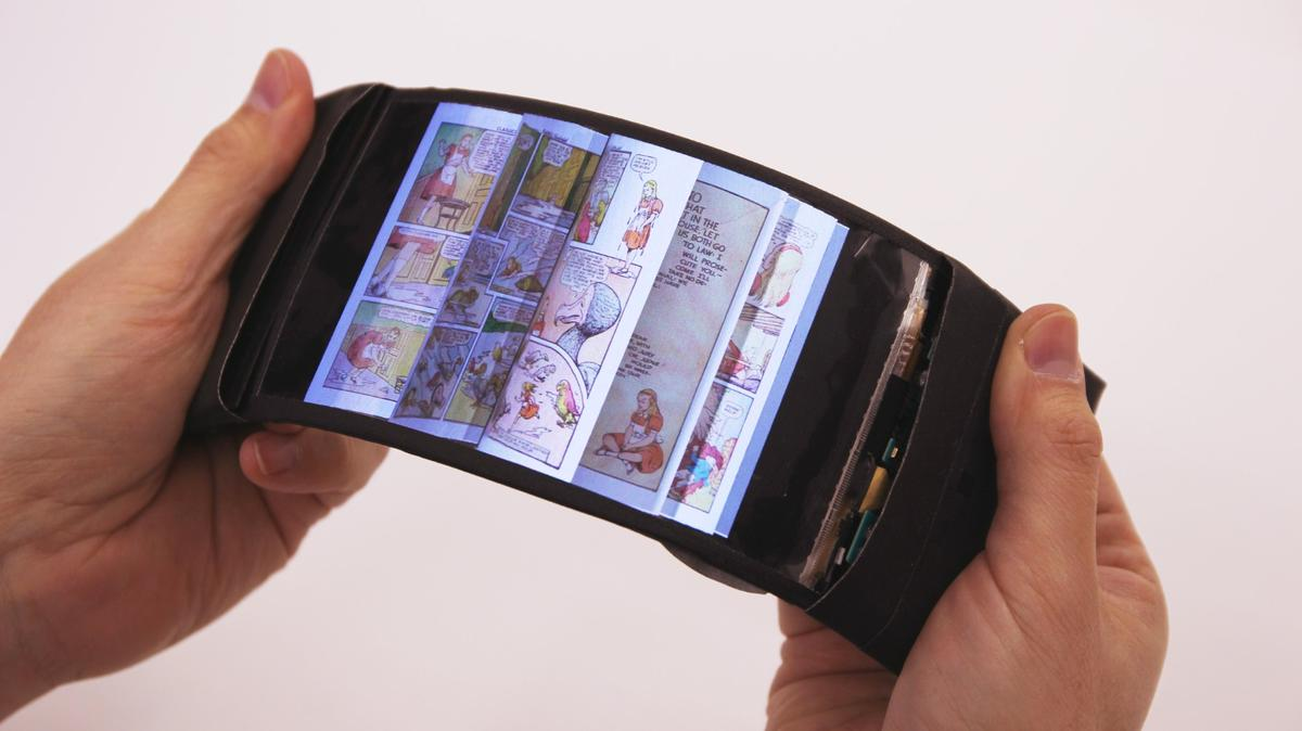 According to the researchers, the device provides a realistic simulation of flipping through the pages of a book