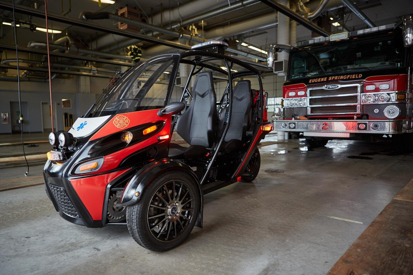 The Rapid Responder is based on the same platform as Arcimoto's Evergreen Edition consumer flagship