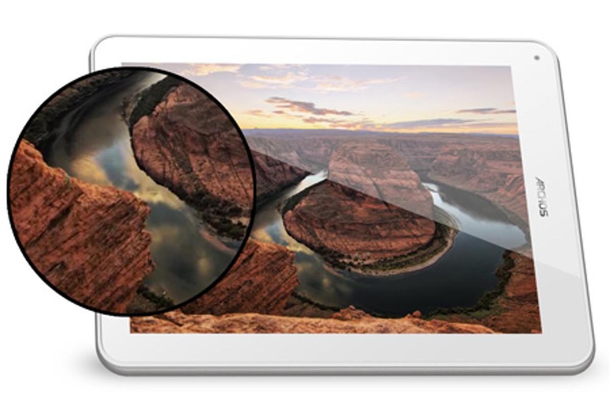 The Archos 97 Titanium HD features an impressive 2048 x 1536 display