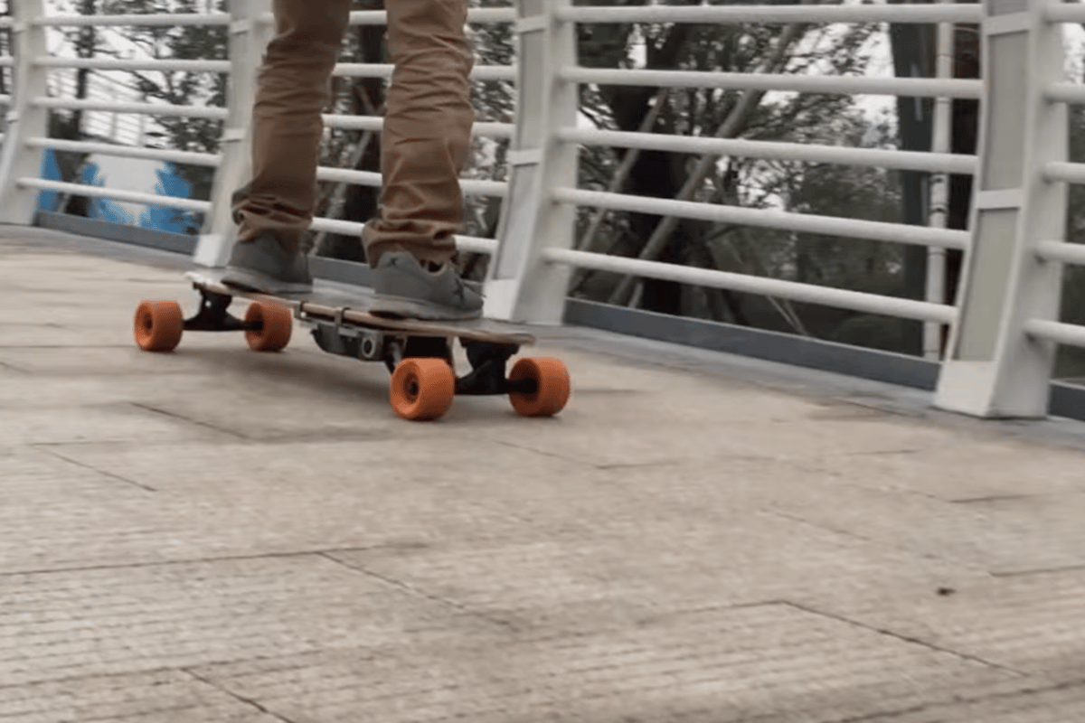 The Sk8-Booster rolls through town